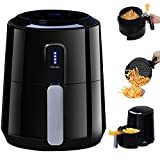 Air Fryer Digital Touch Control, POSAME Programmable 8 Presets 1400W Airfryer, Electric Hot Air Fryers with Detachable Dishwasher Safe Stainless Steel Basket Oil-Free Healthy Kitchen Cooker – Black