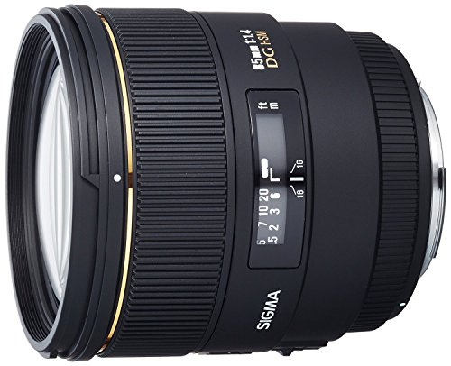 Sigma 85mm f/1.4 EX DG HSM Large Aperture Medium Telephoto Prime Lens for Canon Digital SLR Cameras - Fixed - International Version (No Warranty) by Sigma
