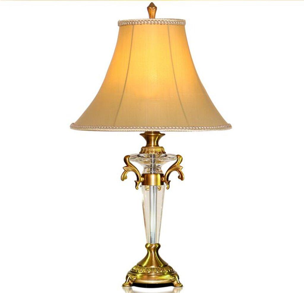 Hochwertige Kristall Tischlampe E27 Licht Retro-Lampe (ohne E27 Lichtquelle) ( farbe : Dimmschalter )