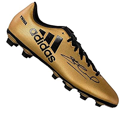 a92a2e8e767 Steven Gerrard Signed Football Boot - Adidas Gold YNWA Special Edition -  Autographed Soccer Cleats at Amazon s Sports Collectibles Store