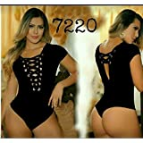 Saes Moda Womens Body Shaper Blouse Blusa Fajas Colombianas Ab Control Ref 7220 ONE SIZE