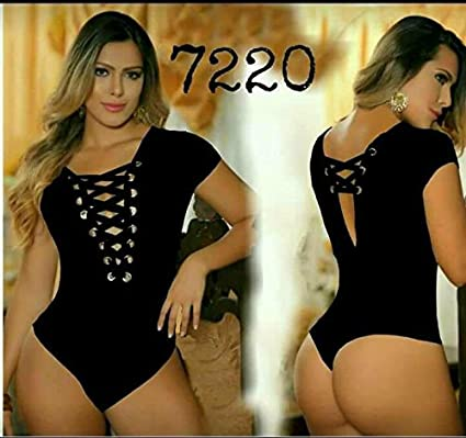 Saes Moda Womens Body Shaper Blouse Blusa Fajas Colombianas Ab Control Ref 7220 ONE SIZE (