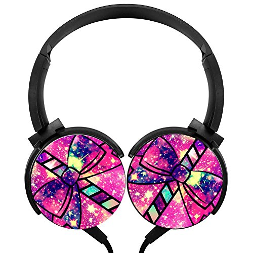 Headphones Wired Headset Candy Cane Galaxy Stereo Headphone American Dream Lollipop