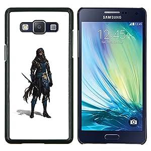 YiPhone /// Prima de resorte delgada de la cubierta del caso de Shell Armor - Espadachín Ladrón Blanca personaje del juego - Samsung Galaxy A5 A5000