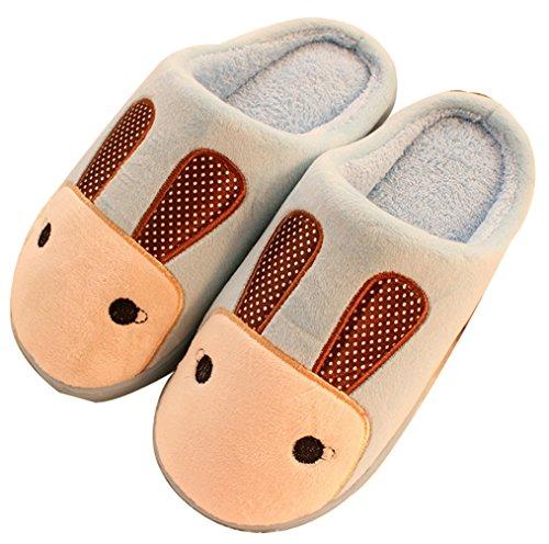 Pantofole Da Donna Pantofole Bloggi Womens Warm Novità (8.5, Blu)