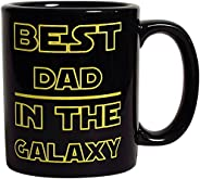 Best Dad in The Galaxy Mug - 11 oz Coffee Cup For Father Funny Dad Gift