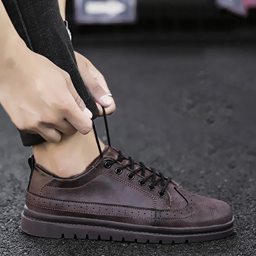 Brown Leisure CN43 EU42 Men's 5 Materials Color Keep Feifei Size Colors Winter High UK8 Quality Shoes 3 Shoes Leather Warm nfH6qfYw