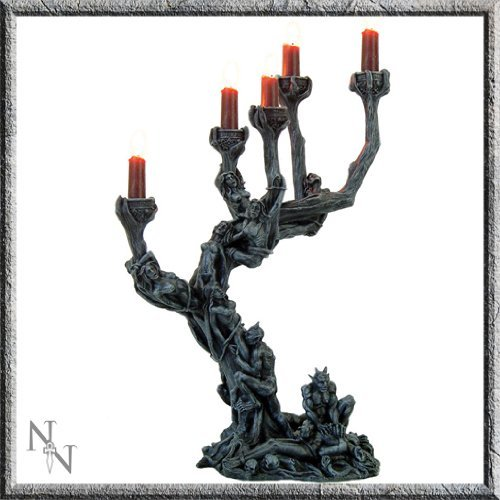 Stunning Hell's Demons Large Candle Holder 45 cm