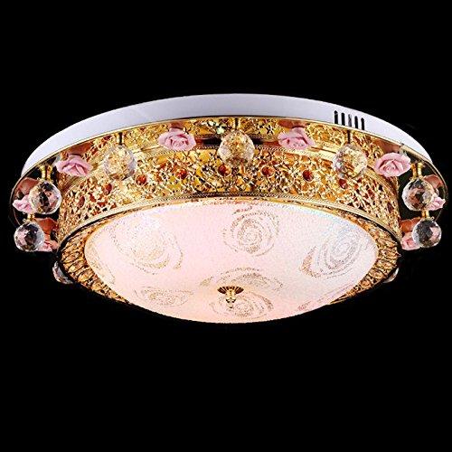 Golden Kristall Rose Schlafzimmer Deckenleuchte Lampe Creative Europischen Luxus Esszimmer Deckenleuchten Wohnzimmer Amazonde Beleuchtung
