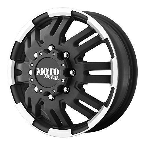 Moto Metal Custom Wheels - Moto Metal MO963 Matte Black Dually Outer Wheel With Machined Accents (16x6