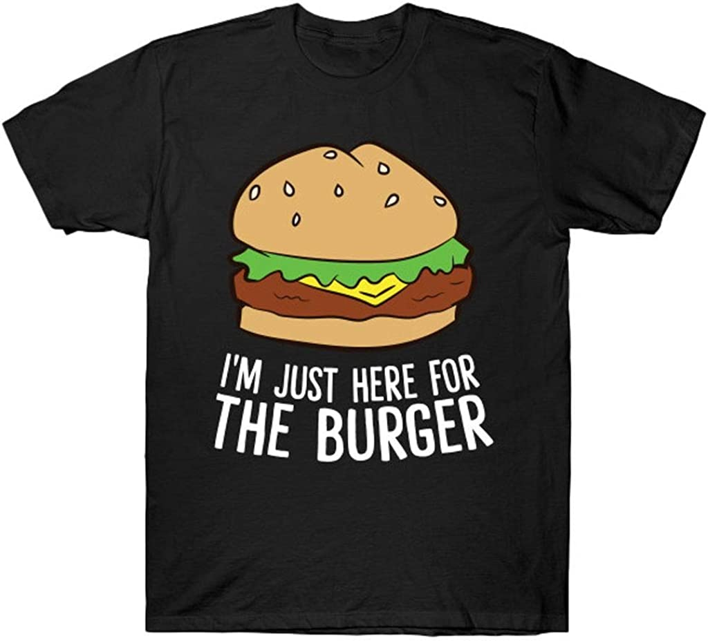 I_m Just Here for The Burger Fast Food Funny Hamburger T Shirt Black
