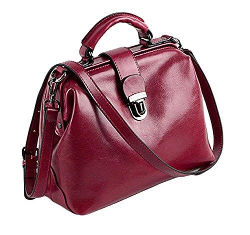 Paquet Messenger Cuir Rétro En Cuir à Bag à Docteur Purple1 De Main Sacs Boucle En Pétrole Sac Main Cire épaule T0C74wqx