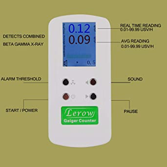 Lerow LR-4011 Hand-held geiger Counter Nuclear Radiation Detector Personal dosimeters Detects Combined