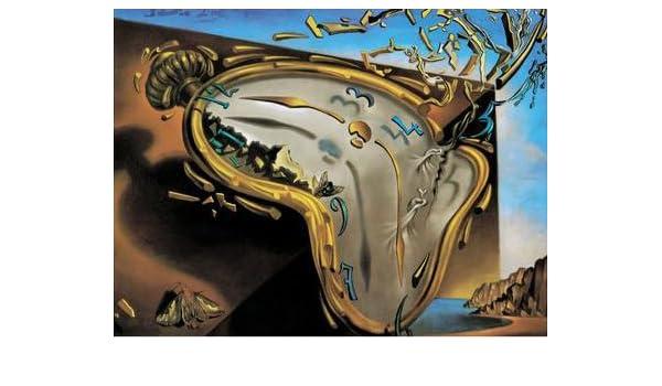 Salvador Dalí reloj 59 x 45 cm Quadro Impresión sobre panel de madera DM bordo negro: Amazon.es: Hogar