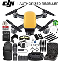 DJI Spark Portable Mini Drone Quadcopter Fly More Combo (Sunrise Yellow) EVERYTHING YOU NEED Bundle