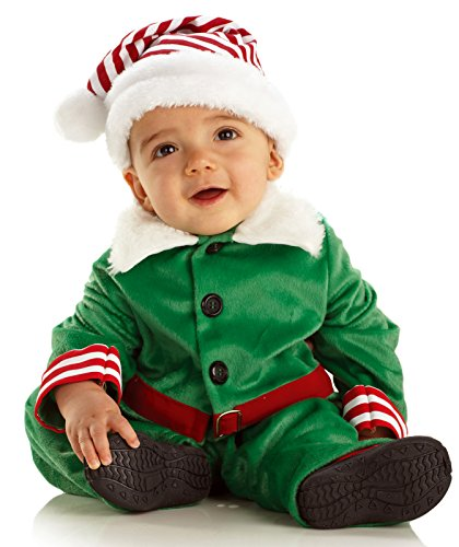 Santa's Elf Baby Toddler Costume Green (Small (6-12 mo.))