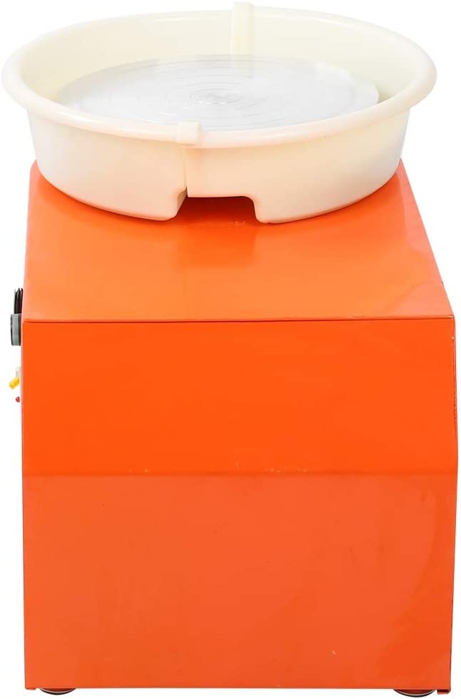 GLOGLOW Pottery Wheel Orange US Plug Household Pottery Forming Machine Electric Ceramic Machine Variable Speed Children Ceramic Device Pottery Wheel Machine Children DIY Clay Tool 250W