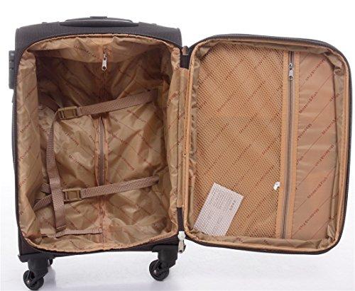 51ps1RE68bL - 8005 3 piezas, 4 ruedas de maletas duras tela maleta conjunto de equipaje maleta de viaje en 5 coloures