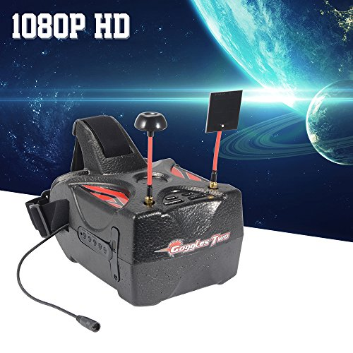 XCSOURCE Eachine Goggles Two 5'' Diversity 40CH Raceband HD1080p HDMI Wireless FPV Video Headset Glasses for Quadcopter Recording AH337 by XCSOURCE (Image #1)