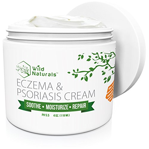 (Wild Naturals Eczema Psoriasis Cream - for Dry, Irritated Skin, Itch Relief, Dermatitis, Rosacea, and Shingles. Natural 15-in-1 Formula Promotes Healing and Calms Redness, Rash and Itching Fast)