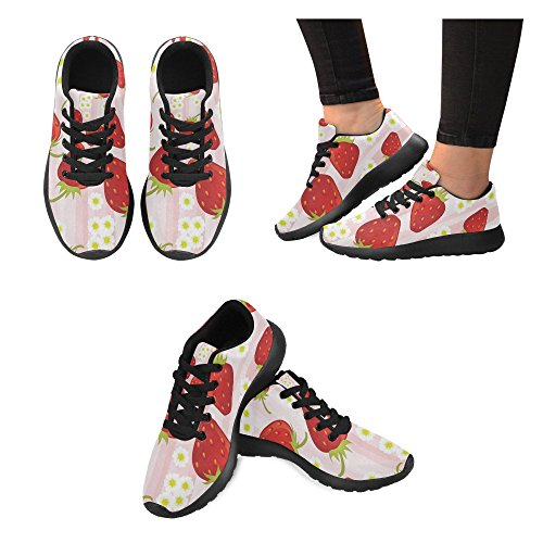 15 Strawberry InterestPrint Lightweight US size pink Sneakers Athletic pattern 6 Women's shoes Running Casual FOq4FpWra