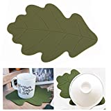 Silicone Trivet Mat Hot Pad Multi-purpose Kitchen Tool Hot Pan Coaster Decorative Spoon Rest (Oak)