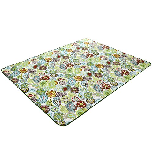 Price comparison product image SONGMICS Washable Outdoor Picnic Blanket Sandproof Beach Mat with Storage Pockets UGCM70F