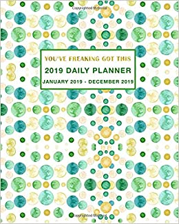 2019 daily planner youve freaking got this daily weekly and monthly planner january 2019 december 2019