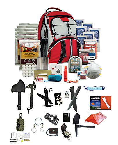 Deluxe Combination Wrench Set (Wise Company 5 Day Emergency Bug Out Backpack (Red) With Food Rations, Drinking Water,First Aid Kit, Stove, Blanket, Poncho & More + LifeStraw Personal Water Filter + Ultimate Arms Gear Survival Set)