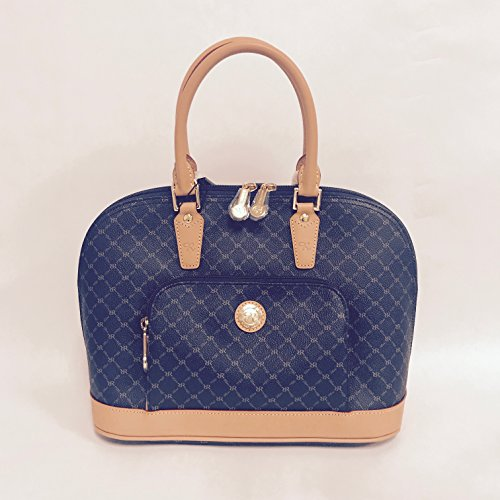 (NEW Rioni Navy Signature Dome Handle LAUREN Handbag STA20001)