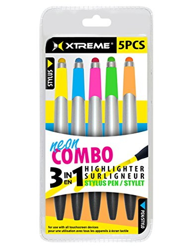 Xtreme Cables 86451 5 Pack Highlighter Stylus Pens