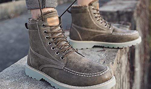 Oudan Oudan Oudan Männer Arbeiter Stiefel Herbst und Winter hoch, um Plüsch warm Plus Baumwollspitze mit Behinderungen, 43 zu helfen (Farbe   -, Größe   -) 8ea257