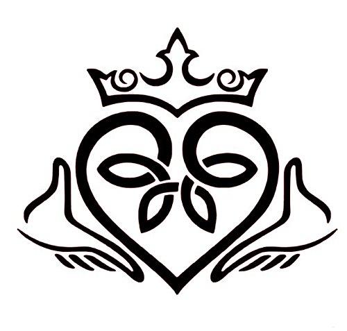 Amazon Claddagh Celtic Knot Heart Vinyl Decal Finne Chladaigh