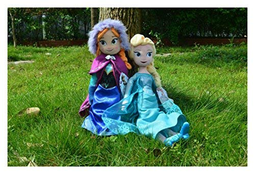 "FiraDesign Frozen Toys Elsa Doll and Anna Doll 15"" As Birthday Present"