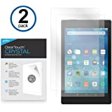 Amazon Fire HD 8 Screen Protector, BoxWave [ClearTouch Crystal (2-Pack)] HD Film Skin - Shields from Scratches for Amazon Fire HD 8