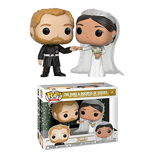 Funko Pop! Royals: Prince Harry And Meghan Markle Collectible Figure, Multicolor -