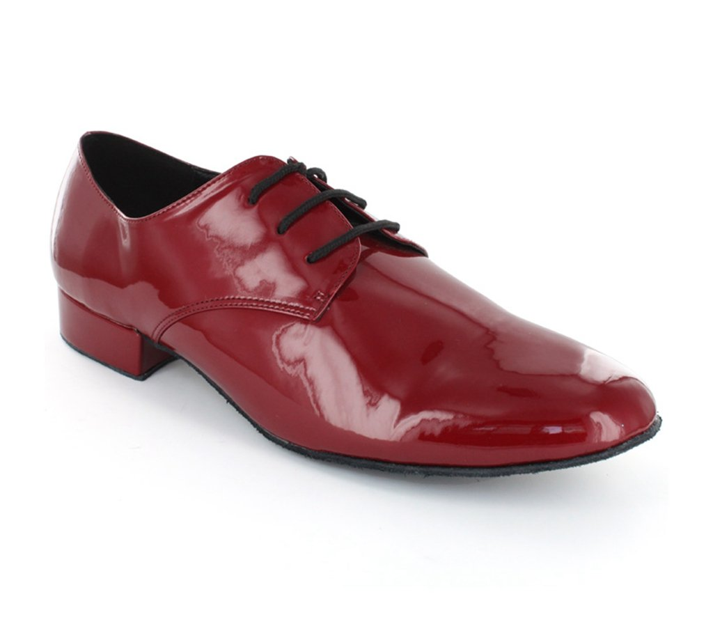 TDA Men's JF250804 Penny Patent Red Leather Party Ballroom Tango Latin Dance Shoes 13 M US