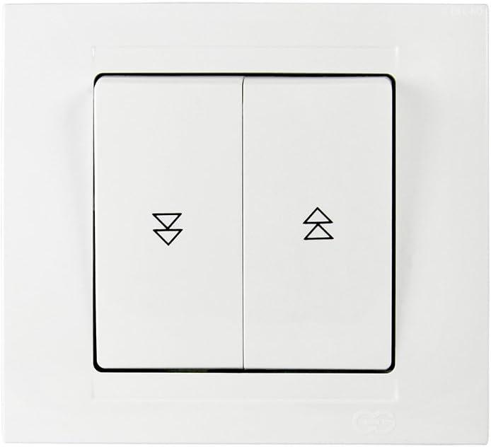 Gunsan Moderna Store Store Interrupteur rolladenschalter 1x Boutons Bascule Réservoir Blanc