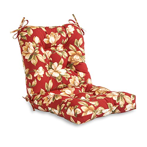 Greendale Home Fashions Outdoor Seat/Back Chair Cushion, Roma Floral
