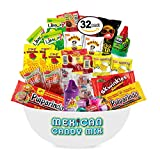 Mexican Candy Assortment Snacks (32 Count), Variety Of Spicy, Sweet, Sour Bulk Candies Dulces Mexicanos, Includes Lucas, Pelon, Vero Lollipops, Pulparindo Makes A Great Gift by Ole Rico