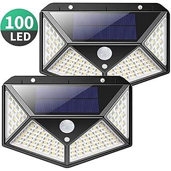 206LED//3 Mode Solar Wall Light Motion Sensor  Wide Angle Waterproof Lamp EL2