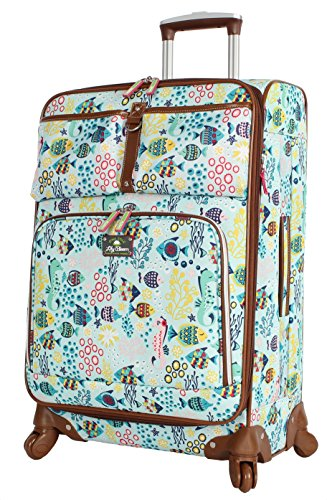 Lily Bloom Hard Shell Luggage Hardside Spinner Cute Suitcase 24in Deal (Large Image)