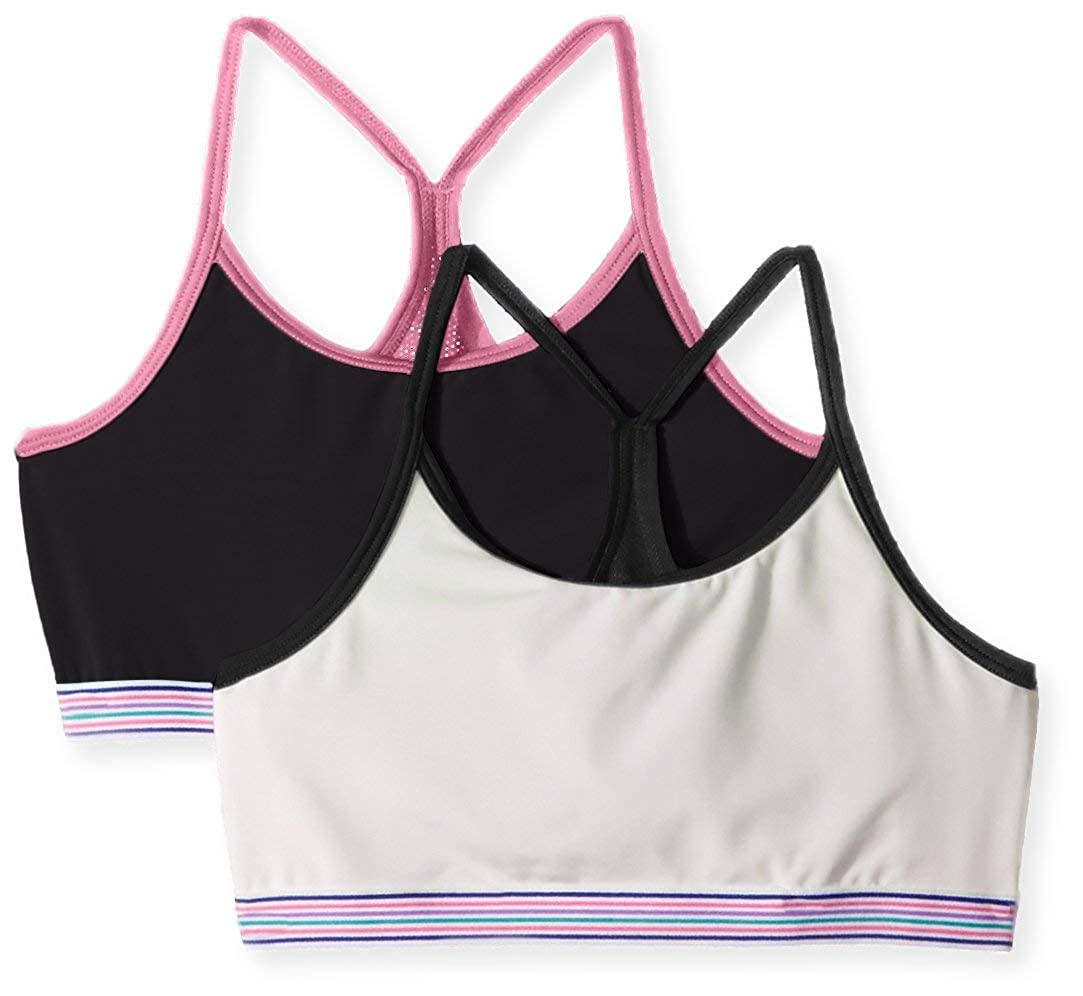 Hanes Girls Big Comfort Flex Fit Seamless Thin Strap Racerback 2-Pack H194