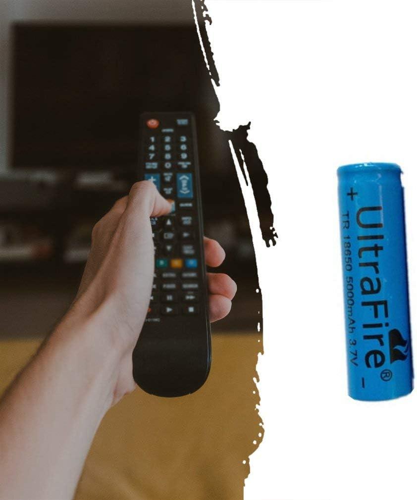4 Pezzi Blu 18650 batterie al Litio Ricaricabili 3.7V 5000mAh Batteria al Litio Pratica sicura per Torcia a LED Gadget elettronici ECC Illuminazione di Emergenza