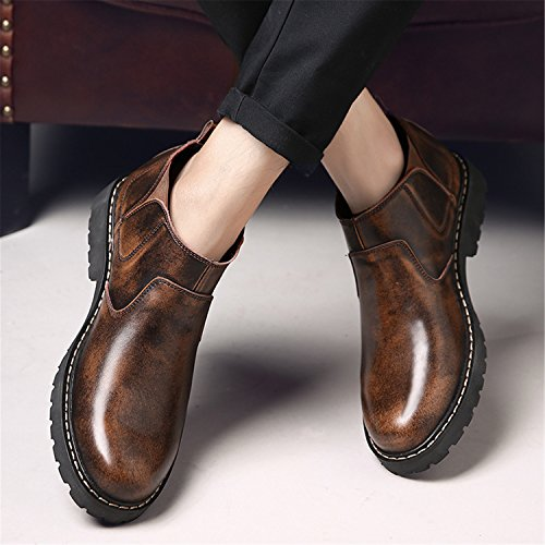 Fleece Martin Bootie Boots Mens On Cowskin Ankle Slip Chelsea RAINSTAR Shoes With Working Braun 8SOqZwv