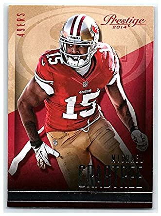 Amazon.com  Football NFL 2014 Panini Prestige  189 Michael Crabtree ... fd42b9092