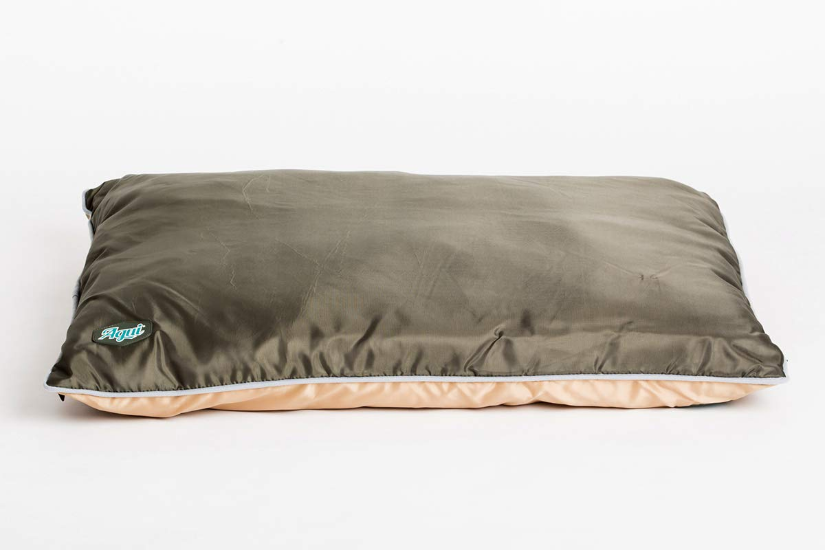 Agui AG10024 Waterproof Cushion Mattress for Pets, 120 x 80 x 11 cm, Green and Beige