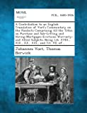 A Contribution to an English Translation of Voet's Commentary on the Pandects Comprising All the Titles on Purchase and Sale-Letting and Hiring-Mortga, Johannes Voet and Thomas Berwick, 1287352391