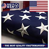 ATHX American Flag 2.5x4 ft. - Embroidered Stars - Sewn Stripes - Brass Grommets - UV Protected - 240D Heavyweight Oxford Nylon Built for Outdoor Use (2.5x4 USA Flag)