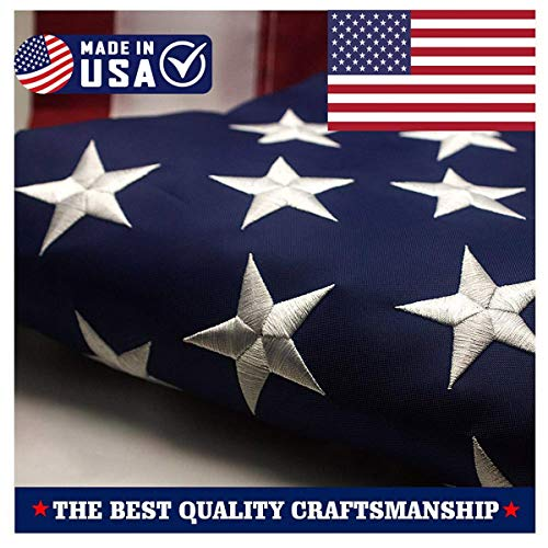 ATHX American Flag 2.5x4 ft. - Embroidered Stars - Sewn Stripes - Brass Grommets - UV Protected - 240D Heavyweight Oxford Nylon Built for Outdoor Use (2.5x4 USA Flag) by ATHX